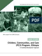 Promising Practices - Children, Communities, And Care (PC3) Program - Ethiopia