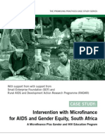 Promising Practices - Intervention With Micro Finance for AIDS and Gender Equity - South Africa