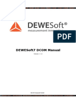 DEWESoft DCOM Manual