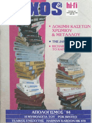 8e8498a3416 ΗΧΟΣ & HiFi 1985, ΜΕΡΟΣ Α' (#142-145)