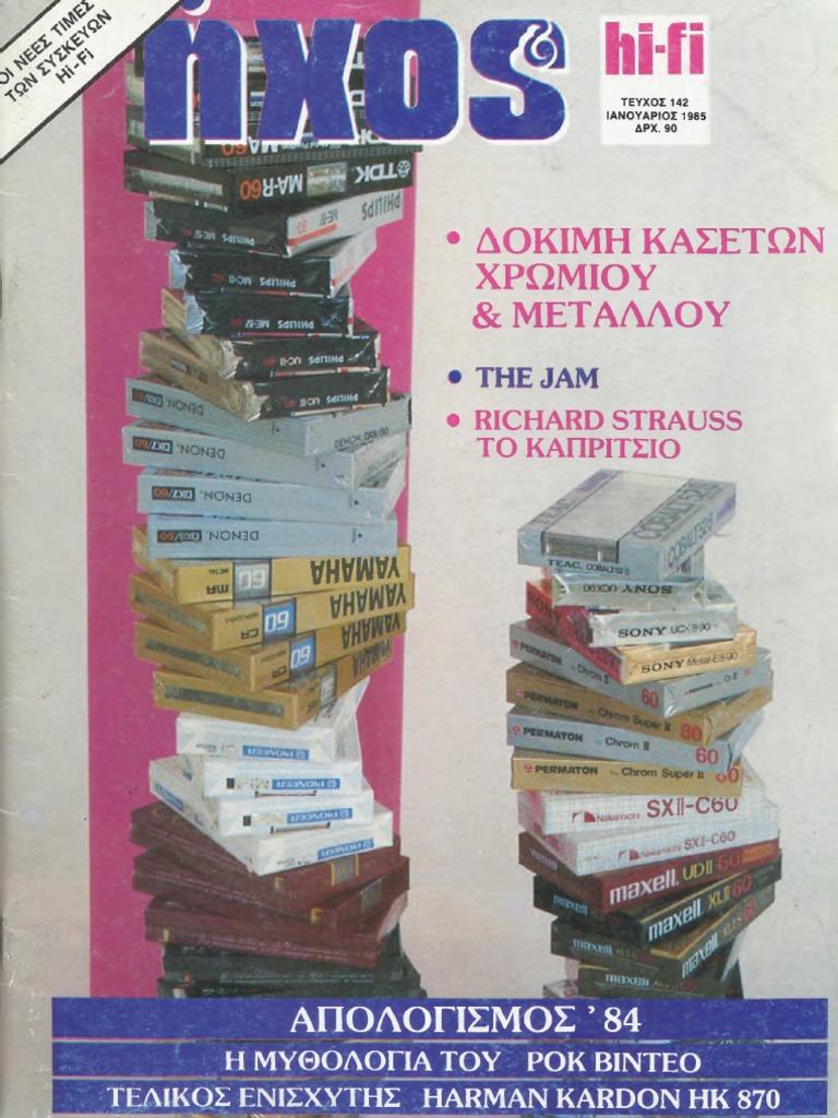 79a67b47d6f ΗΧΟΣ & HiFi 1985, ΜΕΡΟΣ Α' (#142-145)