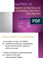 Developments in the Field of Astronomy and Space