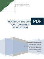 Modelos sociales, culturales y educativos