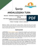 Andaluzijska Tura 5.Oktobar 2018. .Cen 1