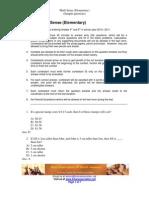 Math Sense Elementary Sample