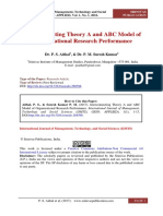 Interconnecting Theory A and ABC Model of Organizational Research Performance