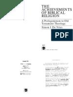 00022 de Vries the Achievements of Biblical Religion
