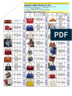 Synthetic Leather (Lady Handbag) Stock Wholesale Price List for Feb 2015