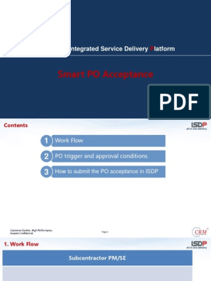 ISDP PO Acceptance for Partner | Business