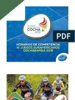 Horario de Competencia de Juegos Suramericanos