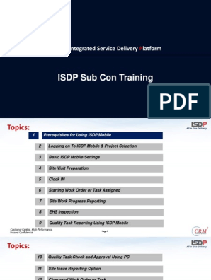Partner Training ISDP Ver 2 | Online And Offline | Android