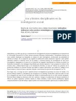 Indisciplinas. Reflexiones metodológicas en Cs. Sociales- Reseña