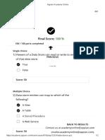 Data Stores Quiz