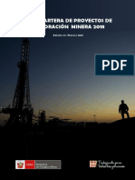 Cartera Proyectos Exploracion Minera peru 2018