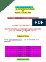 Direito Administrativo -- Defensoria Publica Do Rj