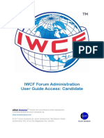 IWCF Forum Candidate User Role