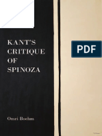 KANT Critique of Spinoza