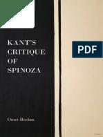 KANT Critique of Spinoza