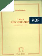 Tema e Variações de Jean Françaix pdf
