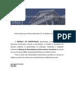 Modelo UFPR - Dissertações e Teses
