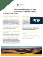 GIZ Renforcer Les Capacites Des Leaders Religieux Pour Promouvoir l Abandon Des Mutilations Genitales Feminines 2013 FR