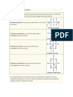Clases de Átomos de Carbono TALLER 2 QUIMICA ONCE