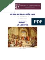 Curso de Filosofía 2015 u7 La Libertad