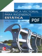 Mecanica Vectorial Para Ingenieros Estatica - Edicion 9 - Beer, Johnston Esp