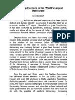 779 Election in India Article - S.Y.quraishi 1