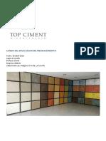 [Construccion] Microcemento Topciment Guia Aplicacion by MPF