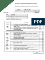 Ficha de Evaluación.