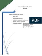 Evolucion de Las Estructuras Sociales
