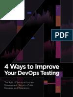4 Ways to Improve Devops Testing eBook