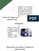 Ergonomia en El Uso de Videoterminales