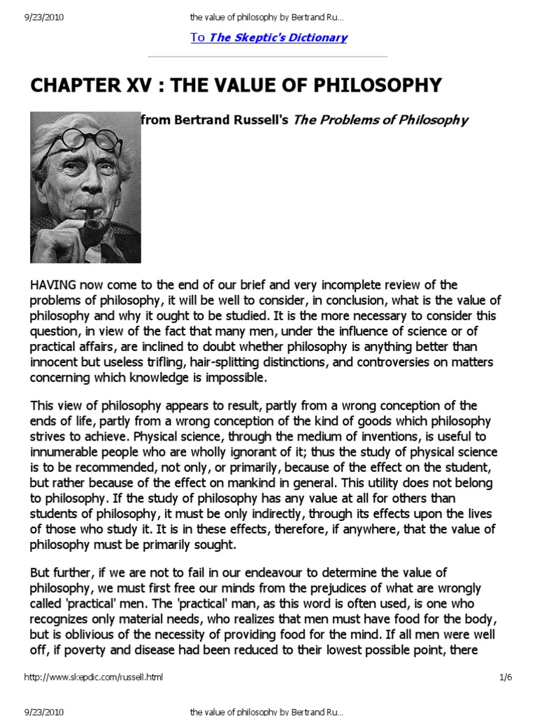 Bertrand russell the value of philosophy essay professional rhetorical analysis essay ghostwriter websites au