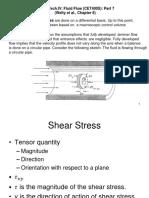 Fluid Flow Shell Momentum Balance