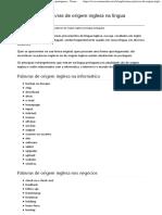 Palavras de Origem Inglesa Na Língua Portuguesa - Norma Culta