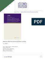 Manual Práctico de Aplicación de La Pena - Editorial Libromar