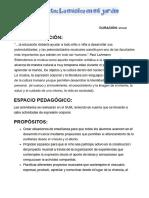Proyecto La Música en El Jardín PDF