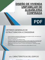 Presentacion Analisis y Diseño en Albañileria Confinada