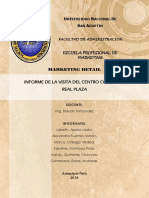 Informe de La Visita Del Centro Comercial Real Plaza