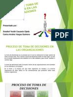 Proceso de Toma de Desiciones en Las Organicaziones