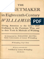 The Cabinetmaker in Eighteenth-Century Williamsburg by Mills Brown