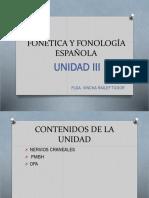 Fonética y Fonología Española Unidad III