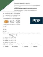Evaluación de Matemática UNIDAD 1 4