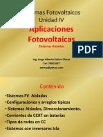 2017 Maestría FV Unidad IV Sistemas Aislados