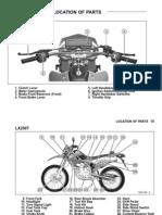 Kawasaki KLX250S Owners Manual - 04 Parts