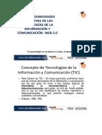 Usos y Posibilidades Educativas de Las Tecnologías de La Información y Comunicación. Web 2.0