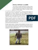 Analisis de La Fabula La Tortuga y La Liebre