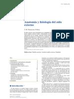 Anatomía y Fisiología Del Oído Externo